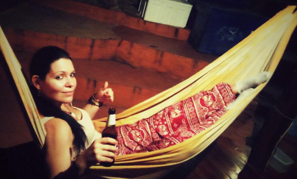 Relaxing in a hammock in Thailand